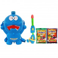 Holi Pichkari Back Pack Cartoon Tank Squirter F48 With Gulaal - Blue