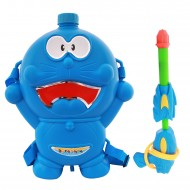 Holi Pichkari Back Pack Cartoon Tank Squirter F48 - Blue