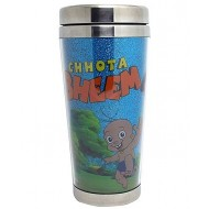Chhota Bheem Glitter Stainless Steel Travel Glass 450 ml,Blue