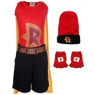 Mighty Raju Theme Costume Set of 6,Red