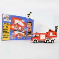 Chhota Bheem Mighty Raju R Blocks 204 pcs Fire Truck,Red