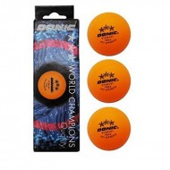 Donic 3 Star ITTF Approved Pack of 3 Table Tennis Ball Orange