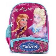 Disney Frozen My Sister My Hero Print Violet School Bag 14 Inch