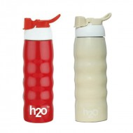 H2O Stainless Steel Water Bottle 600ml SB162