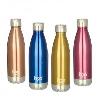 H2O Stainless Steel Water Bottle 500ml SB519