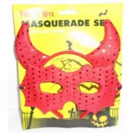 Halloween Masquerade Set In Bloody Red