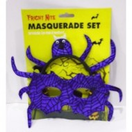 Halloween Masquerade Set In Freaky Purple