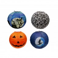 Halloween Paper Lanterns 12 inch Assorted Designs