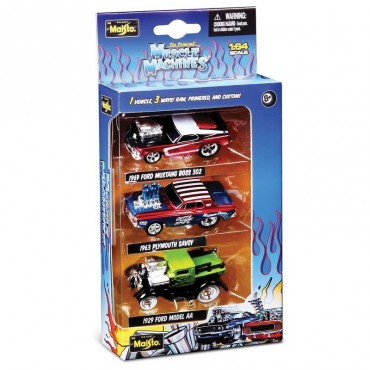 Maisto Muscle Machines 1:64 Scale Set of 3 Diecast cars