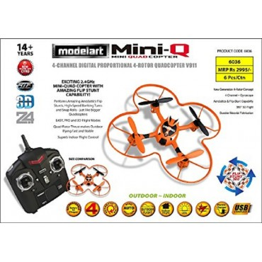Modelart 4 Channel Mini Quadcopter - Orange