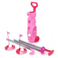 fun factory Barbie Trolley Golf Set