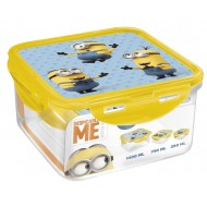 Minions Stor Square Food Containers, Yellow Blue