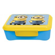 Minions Stor Elite Plastic Lunch Box with Divider, Blue Yellow