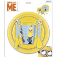 Minions Stor PP Plastic Cutlery Set, Blue Yellow