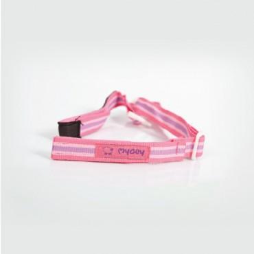 Mycey Feeding Bottle Cord - Pink Stripes