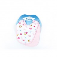 Mycey Cotton Bibs 2 piece Set - Pink