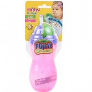Nuby 420ml Flip it Thin Straw Bottle