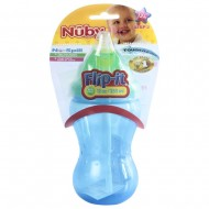 Nuby 355ml Flip It Non Drip Straw Mega Sipper