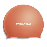 Head Silicone Flat Swimming Cap,Orange