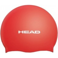 Head Silicone Flat Swimming Cap,Red