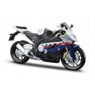 Maisto 1:12 BMW S 1000 RR Motorcycle,White Red Blue