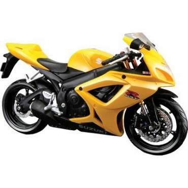 Maisto 1:12 Suzuki GSX R600 Bike,Yellow