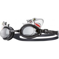 TYR Character Shark Swimming Goggles,Black Grey