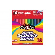 Winning Moves CraZArt's 10 Count Classic Washable Broadline Markers