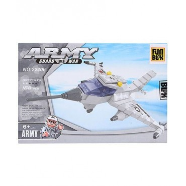 Fun Blox Fighter Plane Set 168 Pieces
