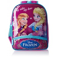 Disney Frozen My Sister My Hero Print Violet School Bag 18 inch