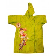 Zeel Looney Tunes Kids Transparent Raincoat Green Size 24""