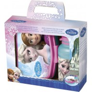 Disney Frozen Timeless Plastic Tiffin Box Set, 500ml, Blue Pink