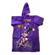 Zeel Looney Tunes Kids Transparent Raincoat Purple Size 22""