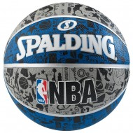 Spalding NBA GRAFFITI Basket Ball  - Size 7 (Grey/Blue/Black )