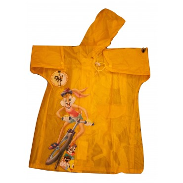 Zeel Loonye Tunes Kids Transparent Raincoat Yellow Size 22""