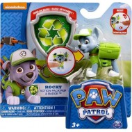 Paw Patrol Action Pack & Badge Rocky Figure