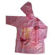 Zeel Barbie Princess Raincoat Pink Size 22""
