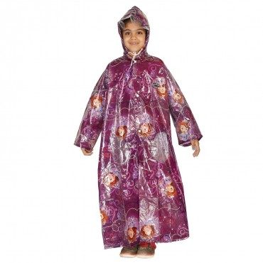Zeel Sofia Printed Long Raincoat For Girls Size 33""