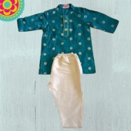 Raspberry Kidzzz Kurta Pajama Set, Green