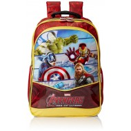 Avengers Red and Yellow School Bag - 14 Inch