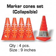 Speed Up Collapsible Marker Cones Set of 4 Pieces