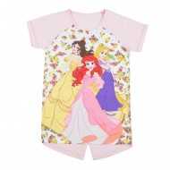 Disney Princess White/Candy Pink Round Neck T-Shirt DR1EGT253