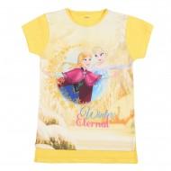 Frozen White/Daffodil Round Neck T-Shirt FZ1EGT227