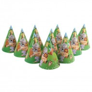 Themez Only Jungle Paper Cone Hats 10 Piece Pack