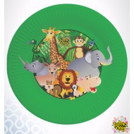 Themez Only Jungle Paper 9 Inch Plate 10 Piece Pack