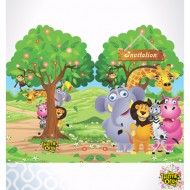 Themez Only Jungle Paper Invitation Card With Env. 10 Piece Pack