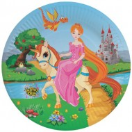 Themez Only Princess Paper 9 Plate 10 Piece Pack