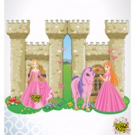 Themez Only Princess Paper Invitation Card With Env. 10 Piece Pack