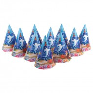 Themez Only Underwater Paper Cone Hats 10 Piece Pack