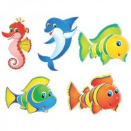 Themez Only Underwater Paper Cutout 5 Piece Pack